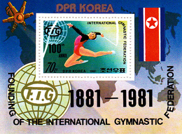 Korea Democratic People's Republic Scott 2085 International Gymnastic Federation Centenary, Souvenir Sheet - Korea, North