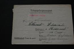 Lettre De Prisonnier De Guerre STALAG XA53 Kriegsgefangenenpost 1943 - Documents