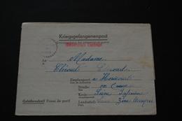 Lettre De Prisonnier De Guerre STALAG Kriegsgefangenenpost 1943 - Documents