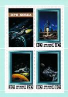 Korea Democratic People's Republic Scott 2197 1982 Space Exploration  Sheetlet,mint Never Hinged - Korea, North