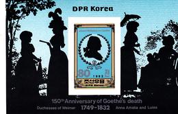 Korea Democratic People's Republic Scott 2204 1982 Johann Von Goethe, Souvenir Sheet,mint Never Hinged - Korea, North