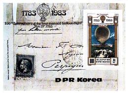 Korea Democratic People's Republic Scott 2256 1982 Bicentenary Of Manned Flight,souvenir Sheet,mint Never Hinged - Korea, North