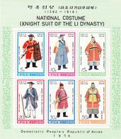 Korea Democratic People's Republic SG N1835a 1979 Costumes Mini Sheet MNH - Korea, North