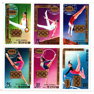 Korea Democratic People's Republic SG N2084-2088 1984 Overprinted Los Angeles Olympic Games,sheetlet,Mint Never Hinged - Korea, North