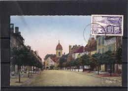 7022 . PESMES . LA GRANDE RUE . (recto/verso) ANNEE  1955 . CONFECTION CHAUSSURES . - Pesmes