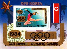 Korea Democratic People's Republic SG N2089 1984 Gymnastic Federation Overprinted Los Angeles Olympic Games - Korea, North