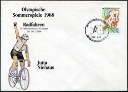 CYCLING Korea 1988 Olympic Games Seoul Silver Winner Jutta Niehaus Germany Bicycle Bike Velo Fahrrad Cyclisme Cover - Cycling
