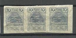 Estland Estonia 1919 Michel 11 Als 3-Streife MNH - Estonia