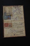 Carte D'identité FRANCE 1943 Avec Timbres Fiscaux - Vieux Papiers