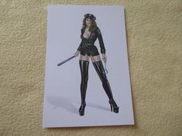 BELLE ILLUSTRATION ...FEMME POLICIERE  SEXY.....SIGNE KEITH GARVEY ? - Künstlerkarten