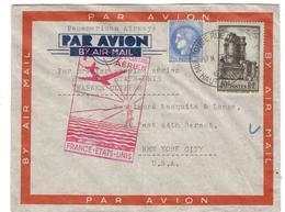 1879 - Pour Les ETATS UNIS - Poste Aérienne