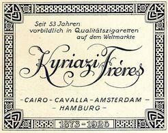 Original-Werbung/ Anzeige 1926 - KYRIAZI FRÈRES ZIGARETTEN / CAIRO / CAVALLA / AMSTERDAM / HAMBURG - Ca. 135 X 110 Mm - Werbung