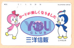 JAPAN  Telefonkarte- Tiere- Pinguin- - Pinguins