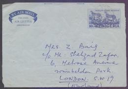NIGERIA Postal History, 10k Aerogramme Stationery, Used 30.3.1977 - Nigeria (1961-...)