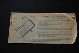 Carnet De Chèques Anciens CHEQUES POSTAUX 1960 - Cheques & Traverler's Cheques