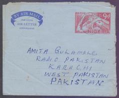 Republic Of NIGERIA Postal History, 9d Birds Aerogramme Stationery, Used 17.11.1970 - Nigeria (1961-...)