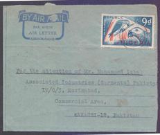 Republic Of NIGERIA Postal History, Aerogramme Used 29.1.1970 With Birds Stamp - Nigeria (1961-...)