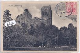 ALSACE-LORRAINE- CACHET AMBULANT- STRASBURG-MARKOLSHEIM- SUR CPA RUINE LANDSBERG- RECT/VERSO - Alsace Lorraine