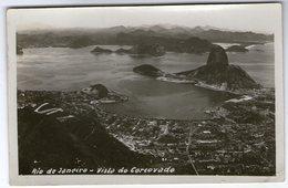 CPA    BRESIL BRASIL      RIO DE JANEIRO     VUE AERIENNE   VISTA DE CORCOVADO - Rio De Janeiro