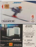F212.1 BOSE 50 U DESCENTE 1 SANS BARRE PUCE SO3 1991/12  VAL D'ISERE N° A 1B5549 - France