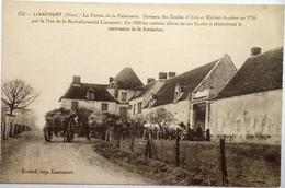 CPA 60 Oise- Agriculture - Attelage De Chevaux - Liancourt - Ferme De La Faiencerie - Berceau Ecoles D'Arts Et Métiers - Liancourt