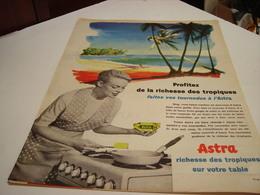 ANCIENNE AFFICHE PUBLICITE  MARGARINE ASTRA RICHESSE DES TROPIQUES 1959 - Posters