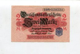 """Deutschland / 1914 / Darlehenskassenschein """"Zwei Mark"""", Ex Berlin, Bankfrisch (4/966) - [ 2] 1871-1918 : German Empire"""
