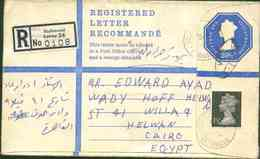 Great Britain 1974 Used Stationary Cover Send To Egypt - 1952-.... (Elizabeth II)