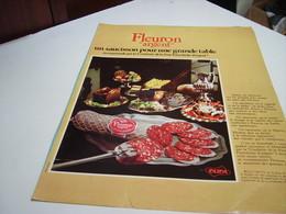 ANCIENNE AFFICHE PUBLICITE  SAUCISSON FLERON ARGENT DE OLIDA 1974 - Posters