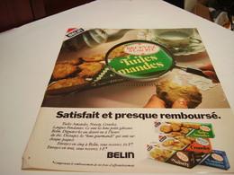 ANCIENNE AFFICHE PUBLICITE  TUILES AMANDES DE BELIN 1978 - Posters