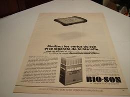 ANCIENNE AFFICHE PUBLICITE  BISCOTTE DE BIO-SON 1980 - Posters