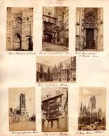 Page D'Album De 7 Photos Originales Entre 1890 & 1900 Sur Rouen En Seine-Martime (76000) - - Places