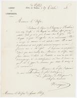 Palais De St.Cloud 1858 Cabinet De L'Empereur Plombière - Documents Historiques