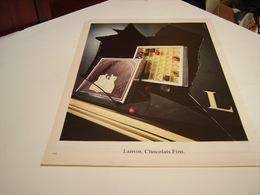 ANCIENNE AFFICHE PUBLICITE  LANVIN CHOCOLAT FIN 1980 - Posters