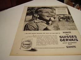 ANCIENNE AFFICHE PUBLICITE DES FORCE SUISSE  DE GERVAIS  1960 - Posters