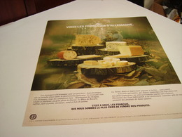 ANCIENNE AFFICHE  PUBLICITE VOICI LES FROMAGES D ALLEMAGNE 1976 - Manifesti