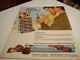ANCIENNE AFFICHE PUBLICITE BARRE CHOCOREVE 1960 - Posters