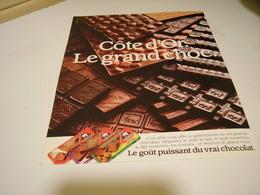 ANCIENNE AFFICHE PUBLICITE LE GRAND CHOC DE COTE D OR  1987 - Advertising