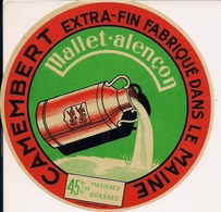 CAMENBERT  EXTRA-FIN FABR.DANS LE MAINE MALLET-ALECON - Cheese