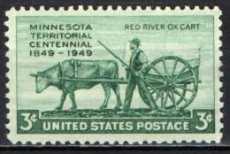 STATI UNITI - 1949 - CENTENARIO DEL MINNESOTA - MH - Verenigde Staten