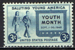 STATI UNITI - 1948 - MESE DELLA GIOVENTU' - MH - Stati Uniti