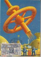 Tchécoslovaquie Carte Maximum 1551 Espace - Cartas