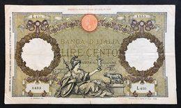 100 Lire Roma Guerriera Fascio Roma 19 10 1939 BIGLIETTO Naturale LOTTO 958 - 100 Liras