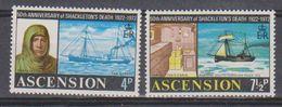 Ascension 1972 Sir Ernest Shackleton Antarctic Explorer 2v  ** Mnh (38469) - Ascension