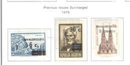 Argentina PO 1975 Previous Surch.Scott.1076/1078+ See Scan On Scott.Page - Argentina