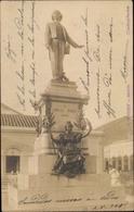 Photo Cp Brasilien, Denkmal, Carlos Gomes, Stadtansicht, Skultpur, Statue - Brazil