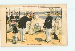 Illustrateur GERVESE - Nos MARINS (série De Guerre) - Visite Officielle - 2 Scans - Humour