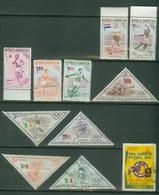 Amériques - République Dominicaine  - Poste 1957  Yt 444 445 446 447 448 Neufs 469 470 471 472 473 Oblitérés - Dominican Republic