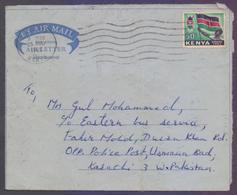 KENYA Postal History, Aerogramme Used 25.8.1965 With Flag Stamps - Kenia (1963-...)