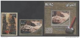 IRAQ,2015, MNH,ARCHAEOLOGY, DESTRUCTION OF IRAQI ANTIQUITIES,2v+ S/SHEET - Archaeology